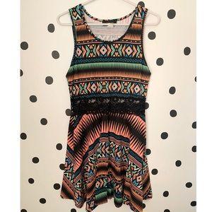 🔥30%🔥legend multi colored/lace dress size L